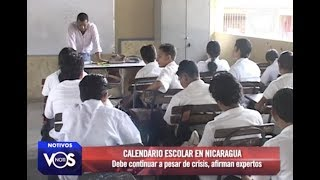 Calendario escolar en Nicaragua debe continuar pese a crisis, según expertos