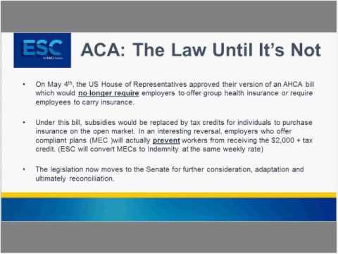 ACA Update: Impact on Staffing