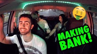 MORE THAN $2000 IN ONE NIGHT!! (Funny Uber Rides)