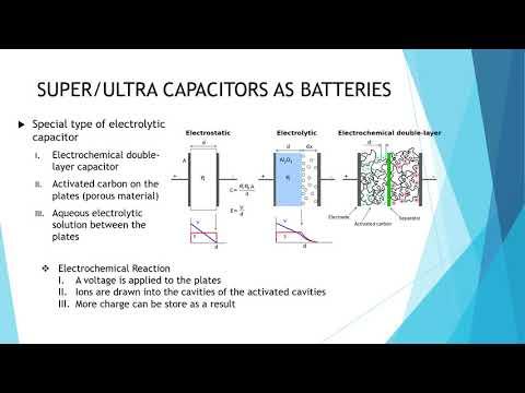 Supercapacitors as batteries