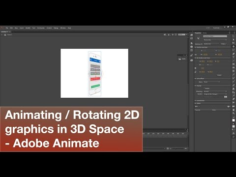 Animate a 2D graphic in 3D space using the 3D Rotation tool - Adobe Animate 2017