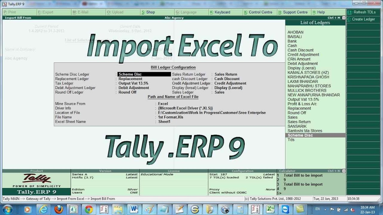 Hospital Invoice Sample Import Excel To Tally Sale Bill With Vat  Youtube Invoice From Excel with Invoice Msrp  Dod Hand Receipt Form Pdf