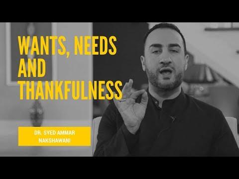 Sayed Ammar Nakshawani - The Importance of Shukr - Thankfulness