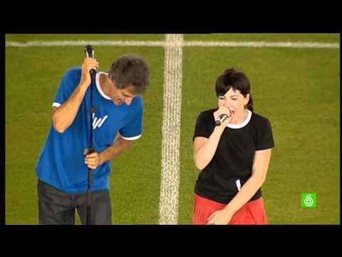 Himno de Centenario de la Real Sociedad en Anoeta (15-08-2009)