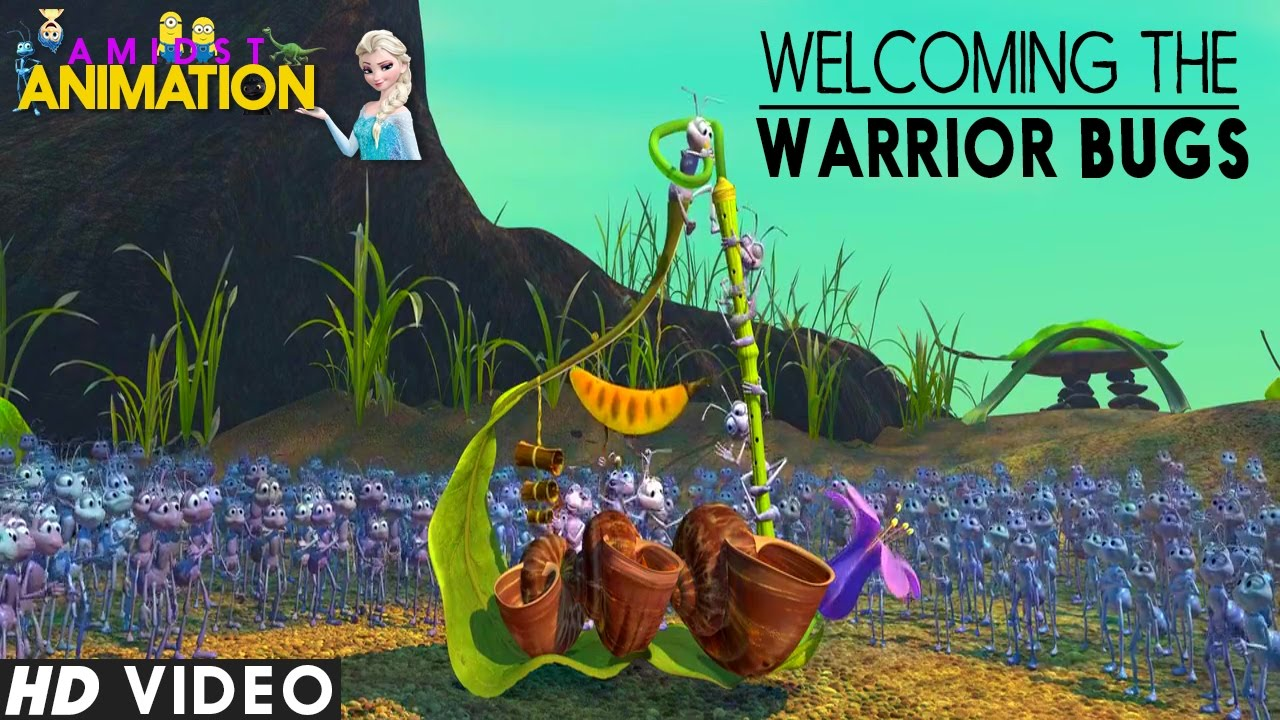 A Bugs Life 1998 Welcoming The Warrior Bugs Youtube