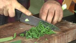 Spring greens with wet & wild garlic recipe