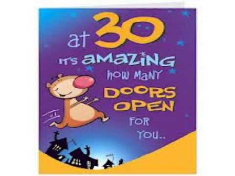 funny 30th birthday quotes YouTube – Funny 30th Birthday Greetings