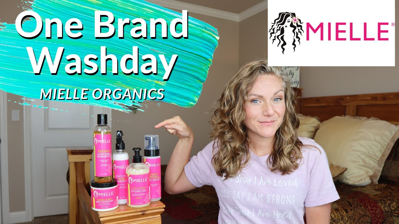 One Brand Washday with Mielle Organics (2A, 2B, 2C Hair)