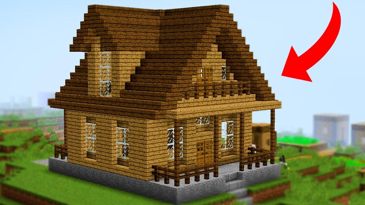 Minecraft Como Fazer Sua Primeira Casa Simples Youtube