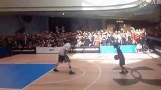 Stephen Curry gets schooled by a 12 years old Chinese girl 1on1