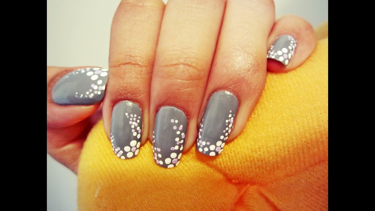Flower dots nail art youtube prinsesfo Images