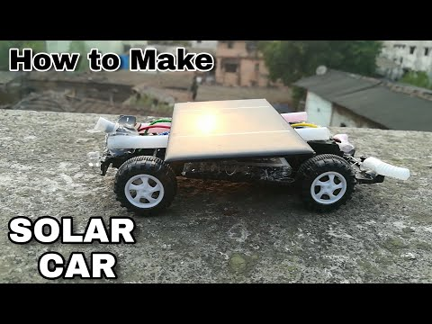 Solar Energy - Car Simple Mini Project Make At Home , It is rechargeable Solar Power
