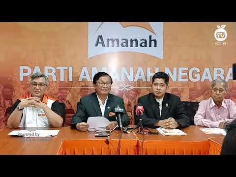 Sidang Media Parti Amanah Negara di Wisma Amanah Negara, Kuala Lumpur