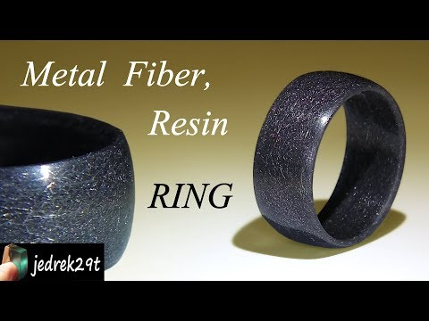 Resin and Steel Fiber RING/PIERŚCIONEK z Żywicy i Włókna Stalowego