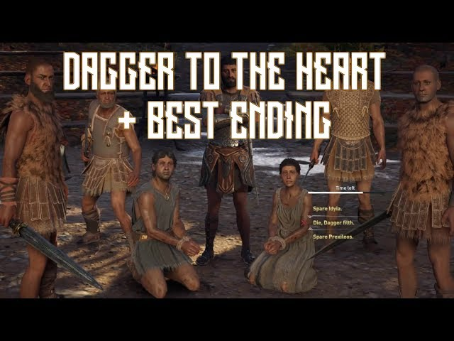 Assassins Creed Odyssey - Dagger to the Heart Sidequest All Endings Walkthrough