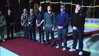 Derek Boogaard Tribute Ceremony - Minnesota Wild - 11/27/2011 [HD]