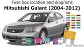 Fuse Box Location And Diagrams Mitsubishi Lancer Ix 2000 2007 Youtube