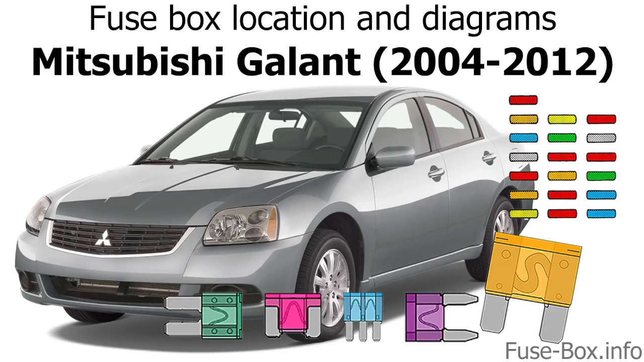 medium resolution of fuse box location and diagrams mitsubishi galant 2004 2012