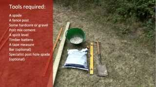 How To Install Fence Posts Into Soil In Your Own Garden