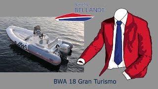 BWA GRAN TURISMO 18 barca nuova con motore HONDA 40 50 [prova in acqua]