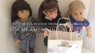 Build A Bear Toothless Hoodie For My American Girl Dolls