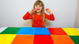 Ulya Playing with Table and Learns Shapes