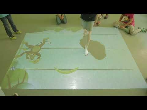 Interactive Floor Magic Carpet UAE Bananas Land game