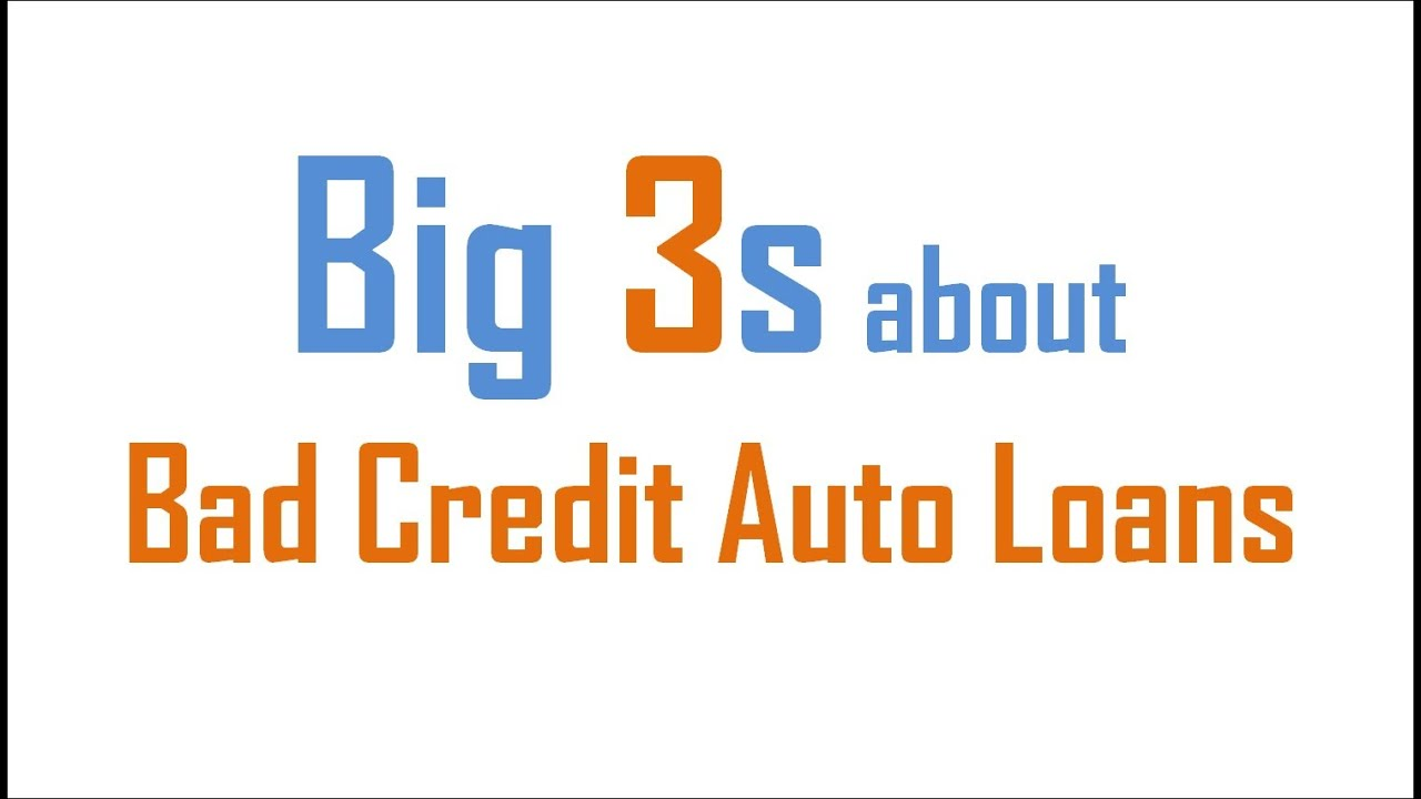 Bad Credit Auto Loans : Golden Chance for Guaranteed Approval on Car Loans with Awful Credit ...