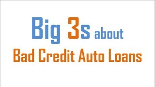 Bad Credit Auto Loans : Golden Chance for Guaranteed Approval on Car Loans with Awful Credit Scores