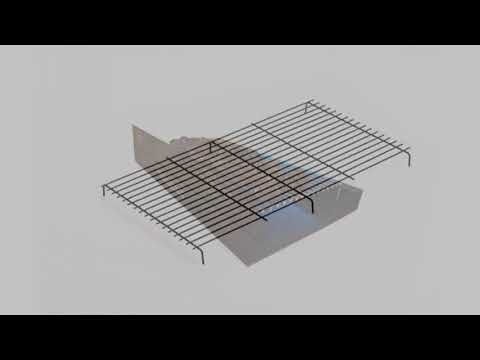 Original DIY Brick Barbecue Kit BKB 401- Built In BBQ Grill for Charcoal. All Hardware including S