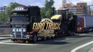 Euro Truck Simulator 2. Катаем в онлайн. Возим грузы! Соблюдаем правила.