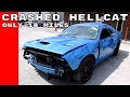 Crashed Dodge Challenger Hellcat With Only 18 Miles