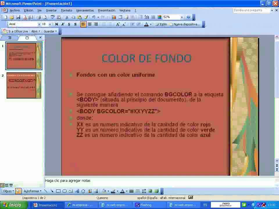 html color de fondo - YouTube
