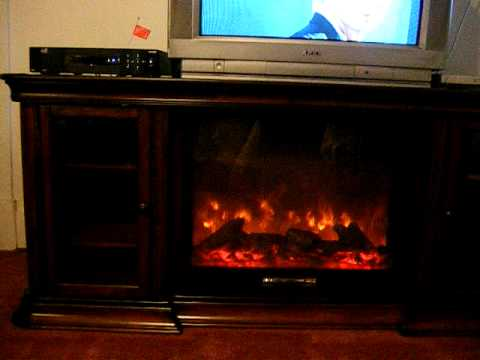 Our new TV stand and fireplace  YouTube