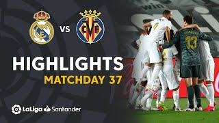 Highlights Real Madrid vs Villarreal CF (2-1)
