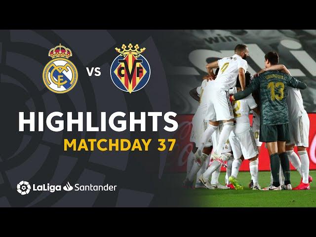 Highlights Real Madrid vs Villarreal CF (2-1) - LaLiga Santander