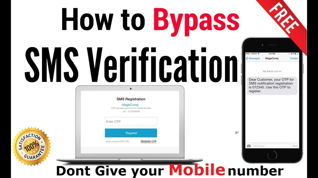 How to Bypass SMS Verification or OTP 100% working and FREE in hindi
