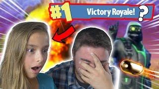MY 11 YEAR OLD SISTER PLAYS FORTNITE!!! (I Suprise Her) | Fortnite Battle Royal