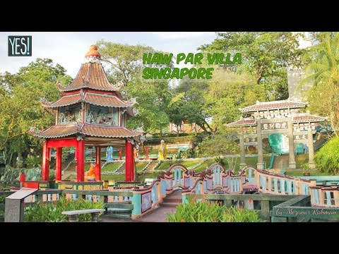 Travel in Singapore – Haw Par Villa, Free admission. attraction place.