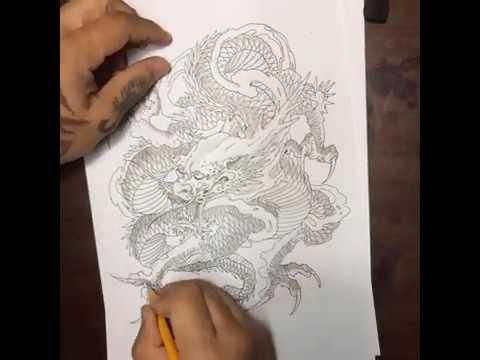 Clip vẽ Rồng của Trung Tadashi