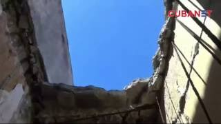Edificio se derrumba parcialmente en Centro Habana, Cuba
