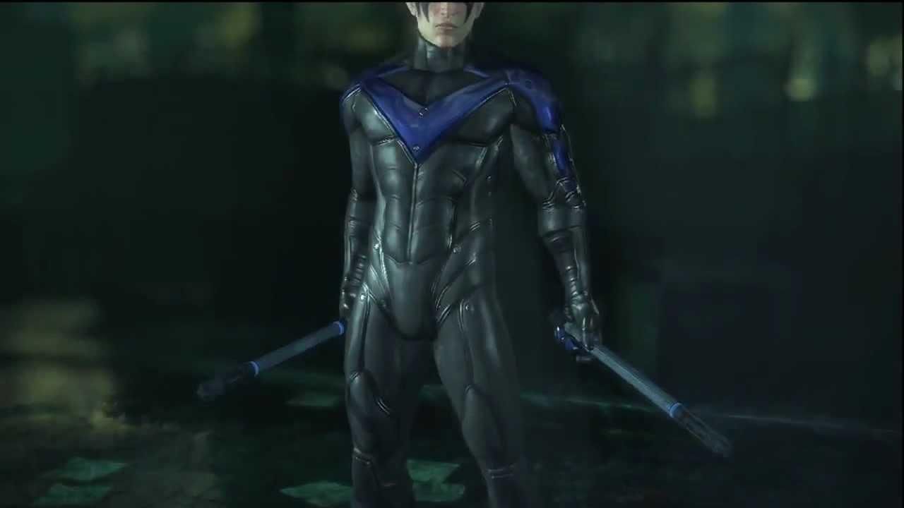 Batman: Arkham City- Nightwing Character Trophies - YouTube