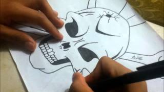 Epic Skull Drawing(Picture Frame Video)
