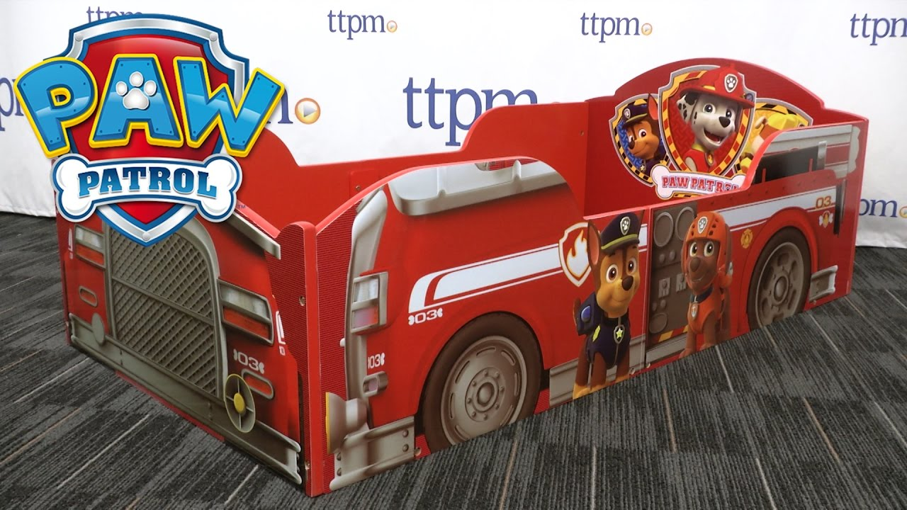 Paw Patrol Slaapkamer : Paw patrol toddler bed from delta youtube