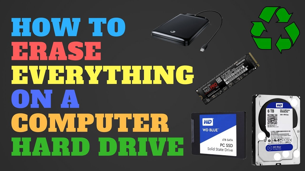 How To Erase Everything On A Computer Hard Drive Youtube