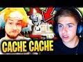 MICHOU FAIT SON PREMIER CACHE-CACHE AVEC MOI SUR FORTNITE BATTLE ROYALE !