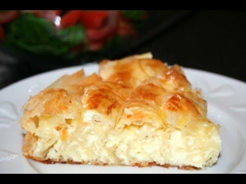 Очень вкусный пирог из лаваша с творогом. Баница