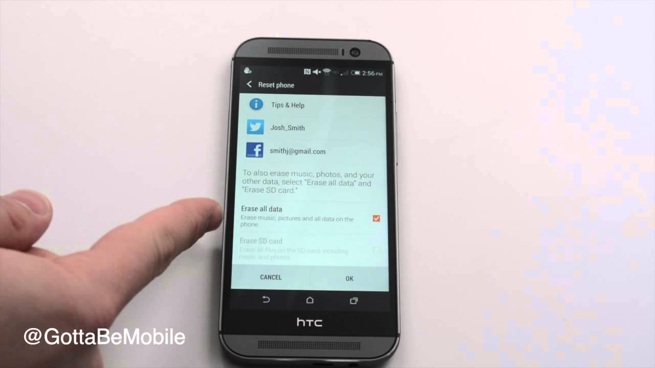 How to Reset the HTC One M8