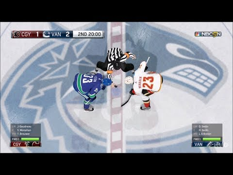 NHL 18 - Vancouver Canucks vs Calgary Flames - Gameplay (HD) [1080p60FPS]