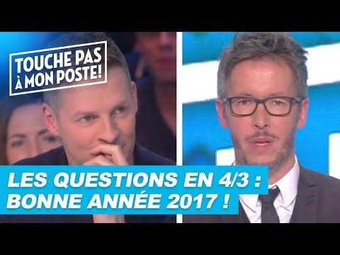 Les questions en 4/3 de Jean Luc Lemoine : Bonne année 2017 !